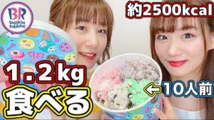 あすきょう:あすきょうチャンネルが「【 大食い 】サーティーワンの10人前巨大アイス!スーパービッグカップを食べてみた!!」を公開